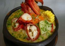 Perol de Langosta, gastronomia chilena, cocina de Juan fernandez