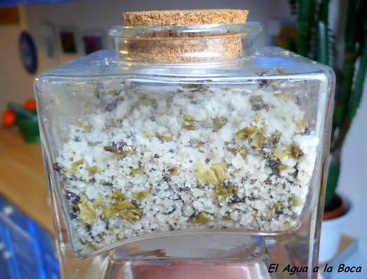 Sal perfumada con luche y aji Merkén