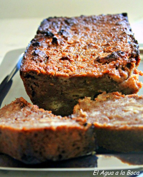 Budin de pan café, chocolate y Whisky, Pudding, Receta chilena