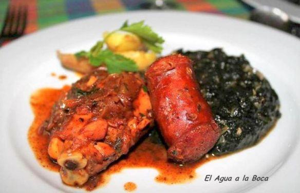 Pollo picante con Luche, pollo piquante con algas, gastronomia chilena, cocina chilena