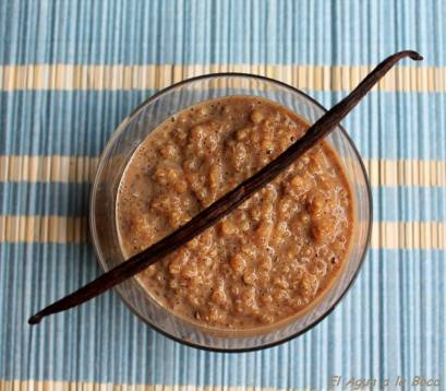 quinoa au lait, quinoa con leche