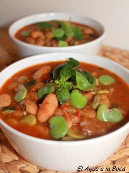 sopa de verduras surtidas