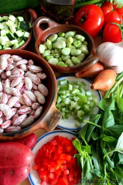 Ingredientes sopa de verduras surtidas