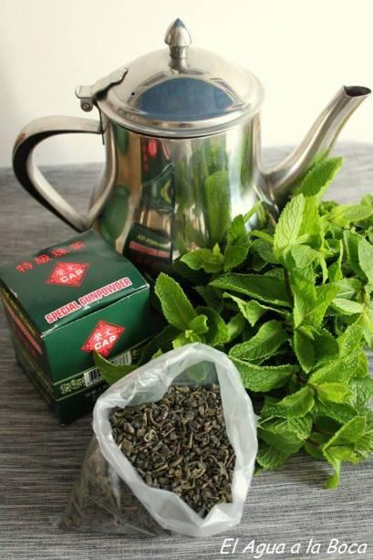 Thé vert à la menthe, té verde a la menta