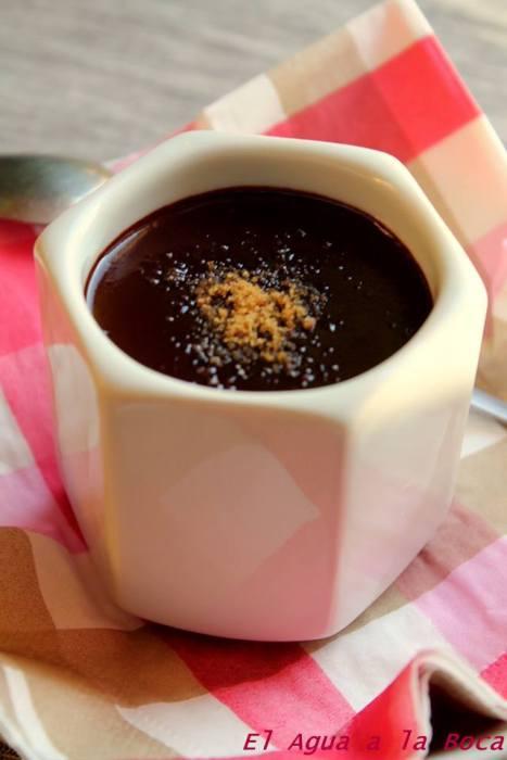 crema de choclate al agar agar/ Crèmes au chocolat et à l'Agar Agar
